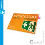 Büchlein mit Flags Index Streifen farbig PET Druck Shop Schweiz