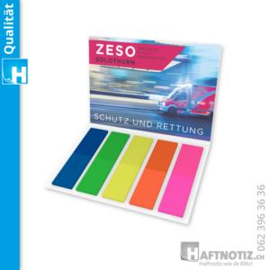 Marker Bookmarks Flags Lesezeichen Büchlein mit Druck