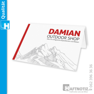 Notizbuch mit Druck und Haftnotizen Post-it