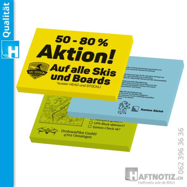Haftnotiz Druckerei Druck von Postit Schweiz