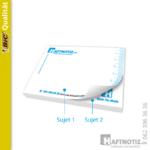 Haftnotiz Druck mit abwechselnden Seiten/Motiv