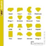 Haftnotiz.ch – Sonderformen von Klebenotizen