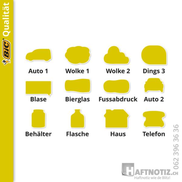 Haftnotiz.ch - Sonderformen von Klebenotizen