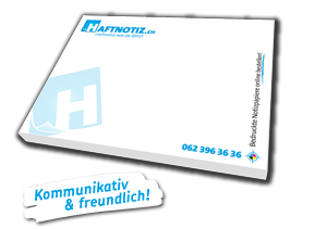 Haftnotizen mit Druck online bestellen bei Haftnotiz.ch