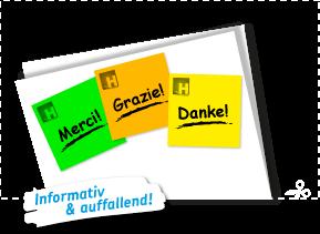 Farbige Haftnotizen mit Druck online bestellen bei Haftnotiz.ch