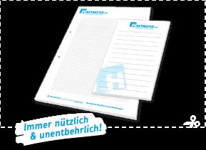 Notizblock mit Druck online bestellen in der Schweiz Druckerei