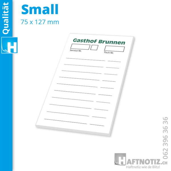 Bestellblock Restaurant kleine Notizzettel mit Druck bestellen