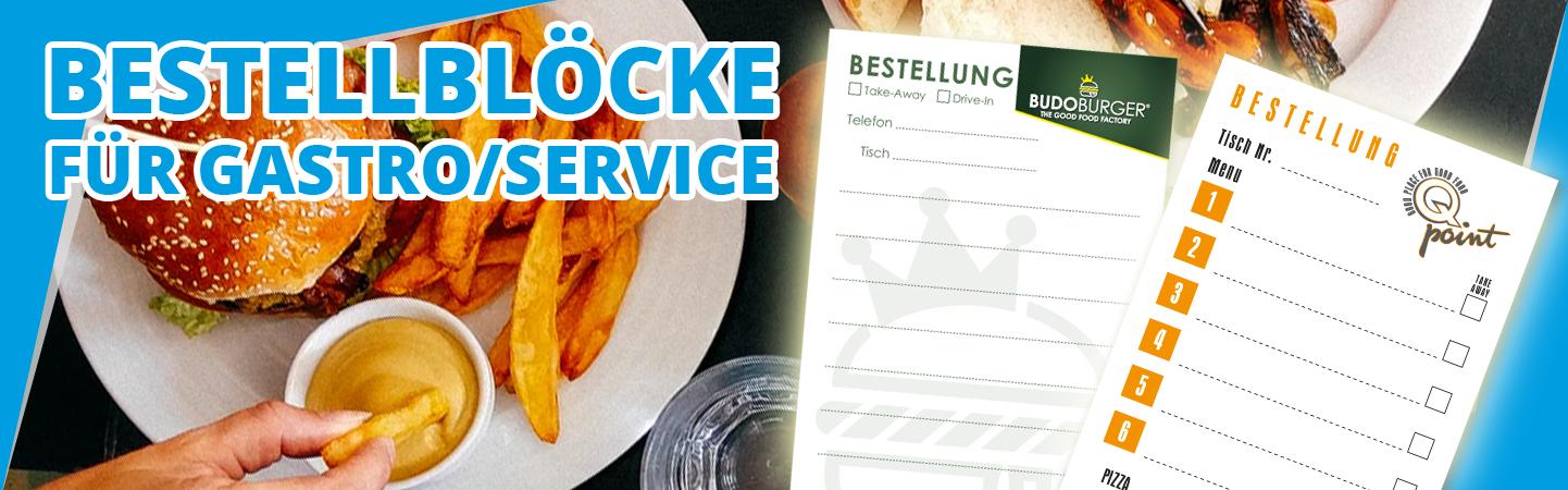 Restaurant Service Bestellblock mit Druck