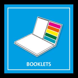Haftnotiz Booklets Büchlein mit Druck auf dem Cover